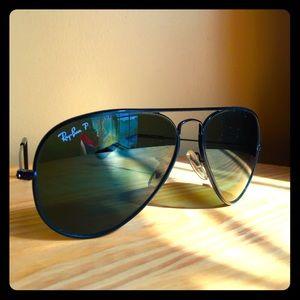 Ray-Ban P Polarized Aviator Sunglasses